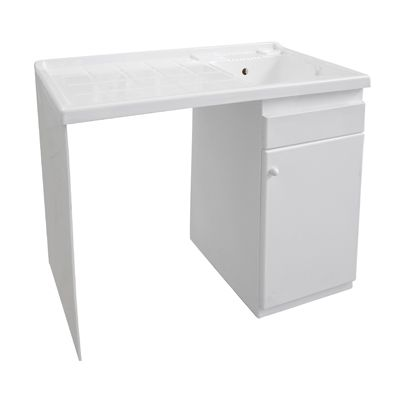 ABS washing-machine cover-cabinet with laundry sink, for outdoor