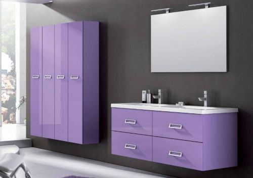 Bathroom vanity, cm 120 or 140, available in 25 colours also white, LINE model