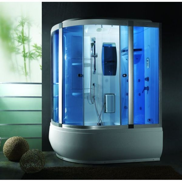 Shower Cabin With Jacuzzi 165x100cm With Chromotherapy