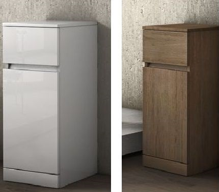 Multipurpose single base-cabinet, low, 30 x h81 x 33.5, available in two colours