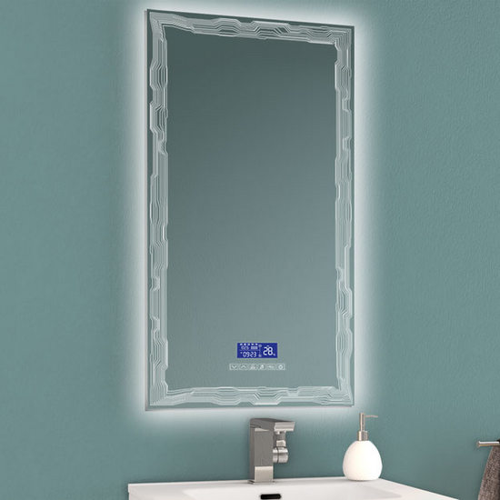 Multimedia Bathroom Mirror With Led, Bathroom Mirror With Led Lights And Bluetooth